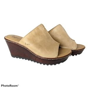 B.o.c. Teah high heel mule tan leather